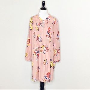 NWT Old Navy floral pleated top shift dres…